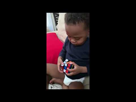 Don Action Jackson - 3-year-old Cleveland Boy-Genius Solves Rubik's Cube