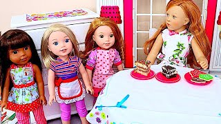 Baby Dolls Cooking Cake Challenge for Mom's Birthday Surprise!