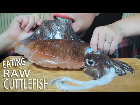 ASMR EATING RAW CUTTLEFISH AND STIR FRIED CUTTLEFISH WITH BITTER MELON | LINH-ASMR 먹방