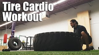 How to Tire Flip Safely | Crossfit Cardio Workout with Tires