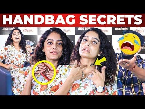 Bigg Boss Abirami Handbag & Tattoo Secrets Revealed   What's Inside the HANDBAG
