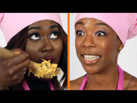 Danielle Brooks & Samira Wiley Make Orange And Black Mac & Cheese