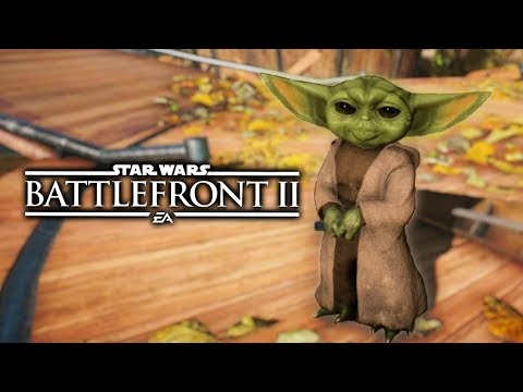 Star Wars Battlefront 2 - Funny Moments #47 BABY YODA