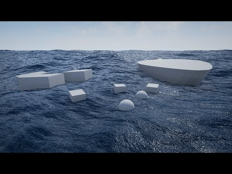 Physical Water Surface - Unreal Engine 4 Water Material with