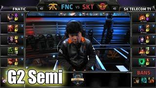 SK Telecom T1 vs Fnatic | Game 2 Semi Finals Mid Season Invitational 2015 | SKT vs FNC G2 MSI 60FPS