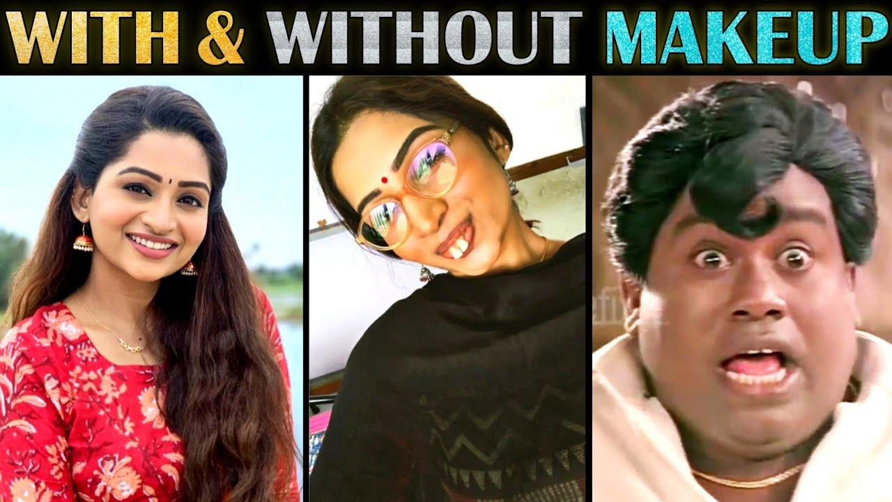 Serial Actress With & Without Makeup Troll - Part 9 | South Indian Actress | Tamil | Rakesh & Jeni