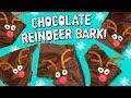 🍫HOW TO MAKE CHOCOLATE REINDEER BARK FOR CHRISTMAS! 😋