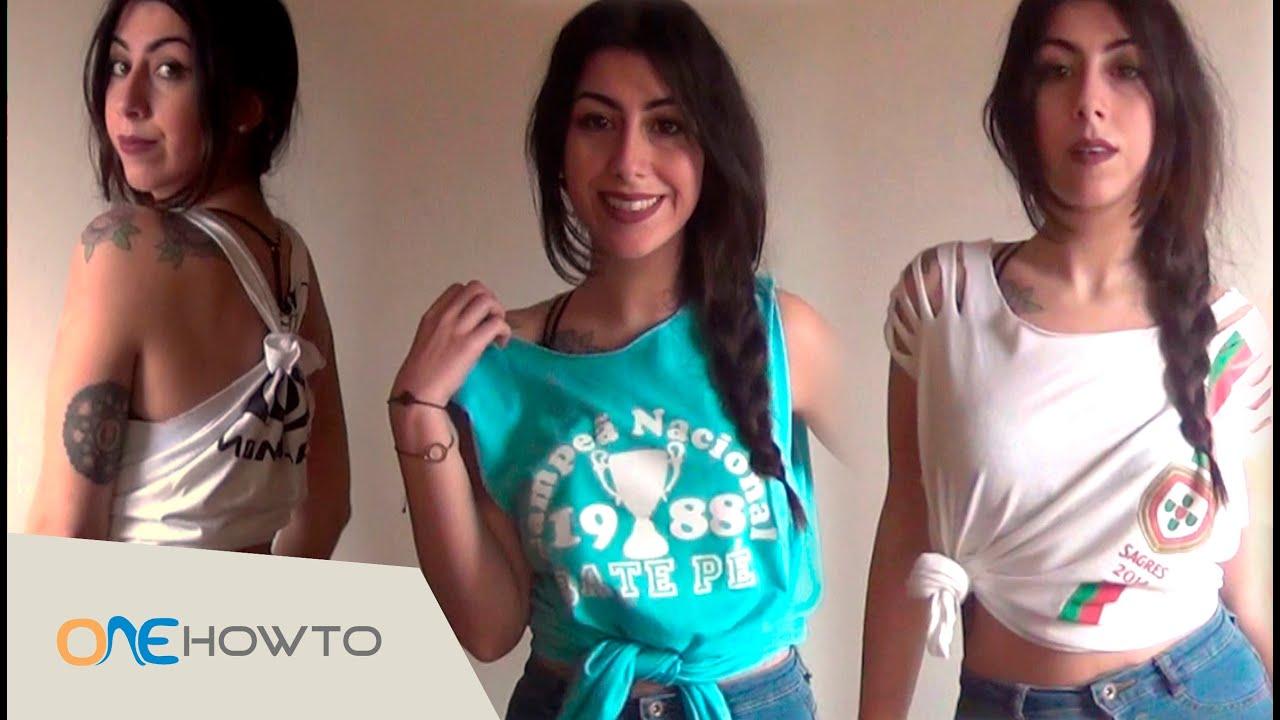 3 DIY T-Shirt cutting designs - YouTube