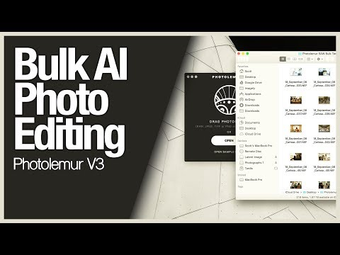 Bulk AI Photo Editing - Photolemur V3