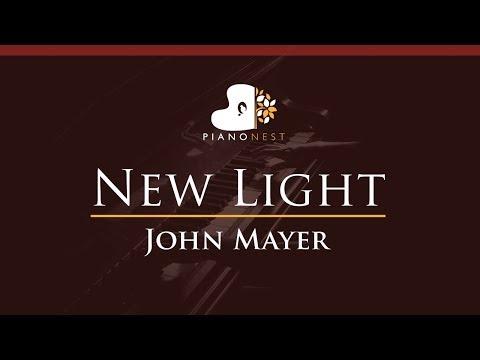 John Mayer - New Light - HIGHER Key (Piano Karaoke / Sing Along)