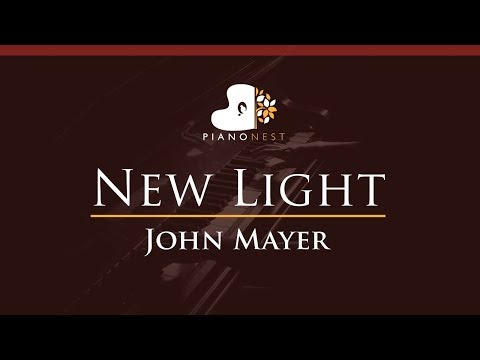 John Mayer - New Light - HIGHER Key (Piano Karaoke / Sing Along)