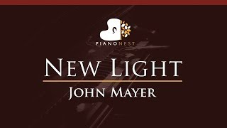 Download Lagu John Mayer - New Light - HIGHER Key (Piano Karaoke / Sing Along) Mp3