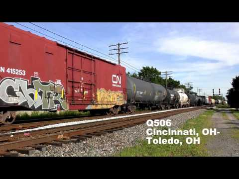 CSX and NS Trains in Fostoria, OH (2 of 2)