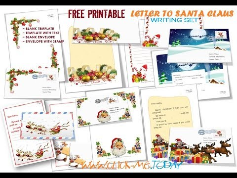 Free Printable Letter To Santa Claus Writing Set YouTube - Free printable letter from santa template