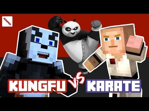 KUNGFU PANDA Vs KARATE MASTER! Fighter Theme Minecraft Story Mode
