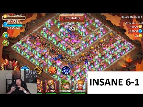 Free 2 Play INSANE 6-1 NO ARTIFACTS 100% Castle Clash
