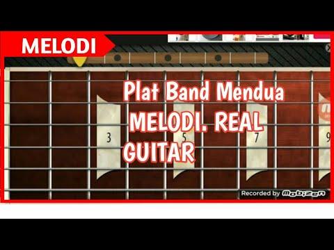Plat band mendua melodi real guitar