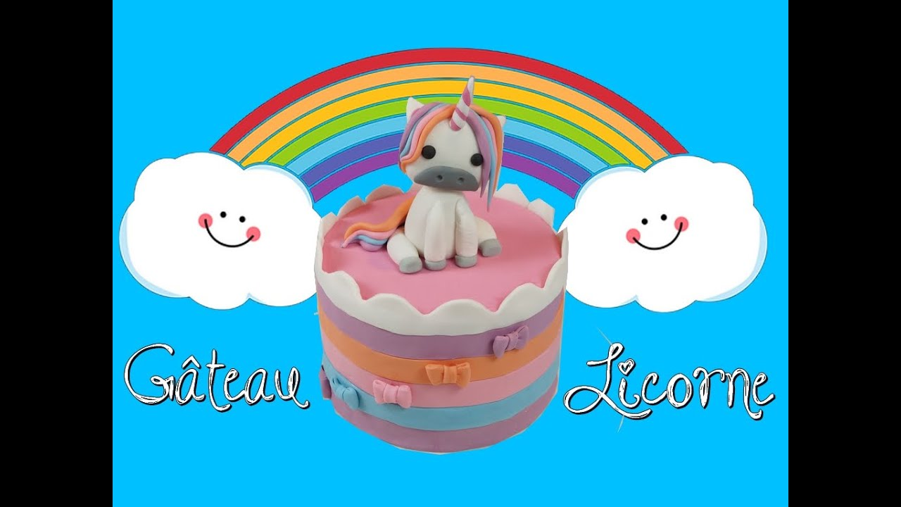 g teau licorne arc en ciel unicorn cake cake design youtube. Black Bedroom Furniture Sets. Home Design Ideas