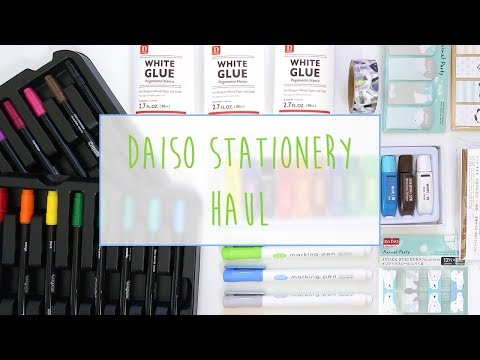 DAISO STATIONERY HAUL (+ OFFICEWORKS) ~ A Beautiful Fable