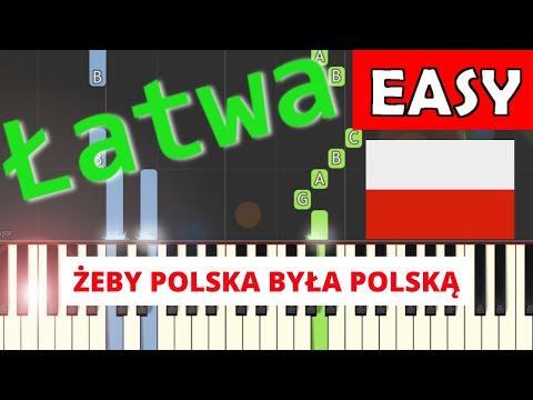 🎹 Żeby Polska była Polską (Jan Pietrzak) - Piano Tutorial (łatwa wersja) 🎹