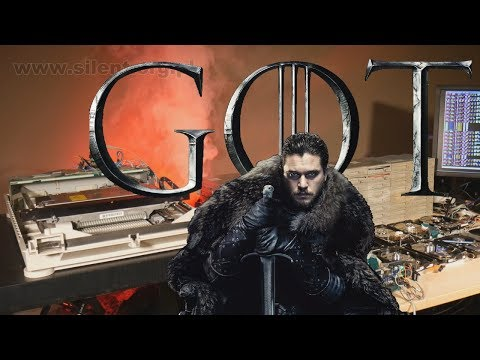 Game of Thrones theme song recreated using old computer hardware