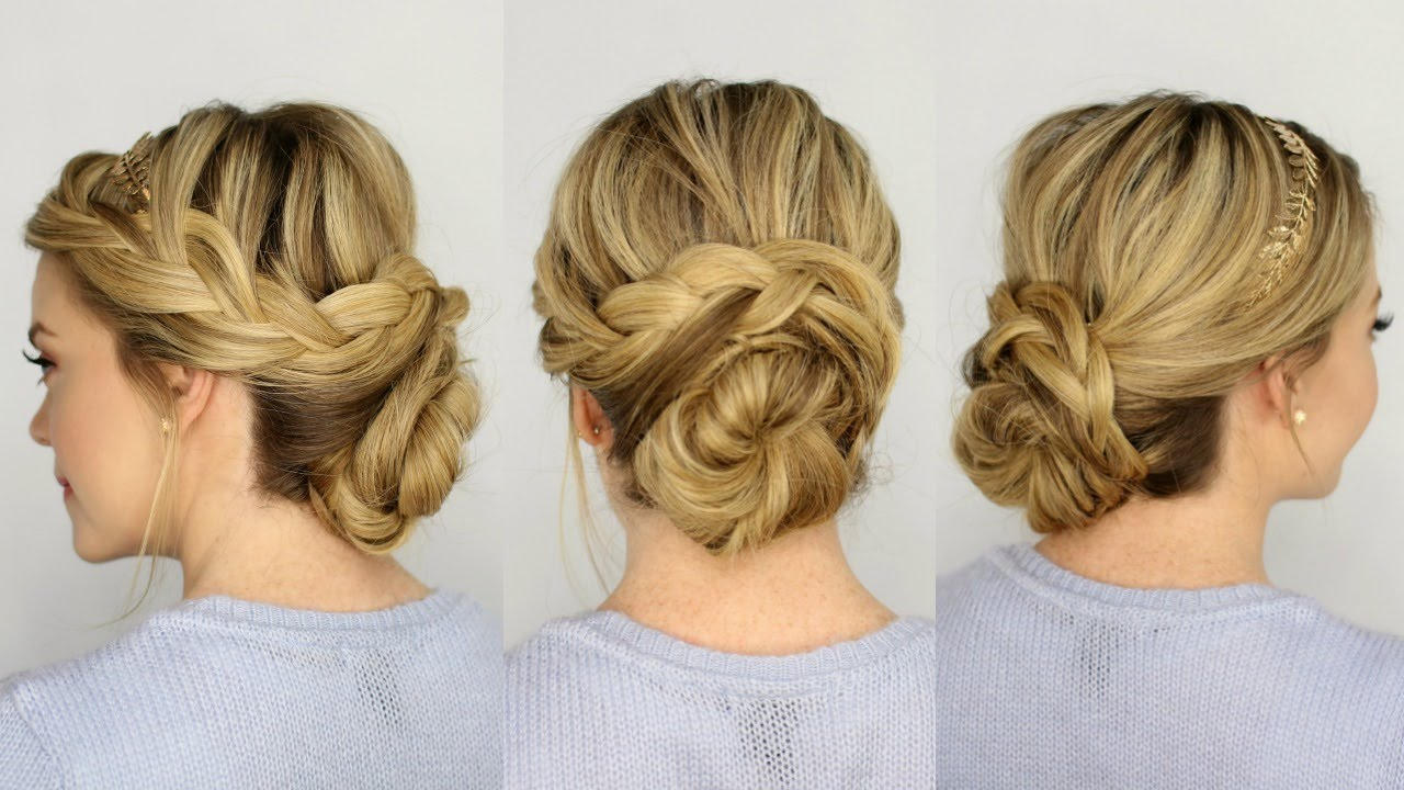 French Braid Updo Youtube