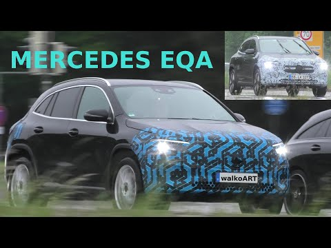 Mercedes Benz EQA electric car prototype spotted ahead of launch - Electrek