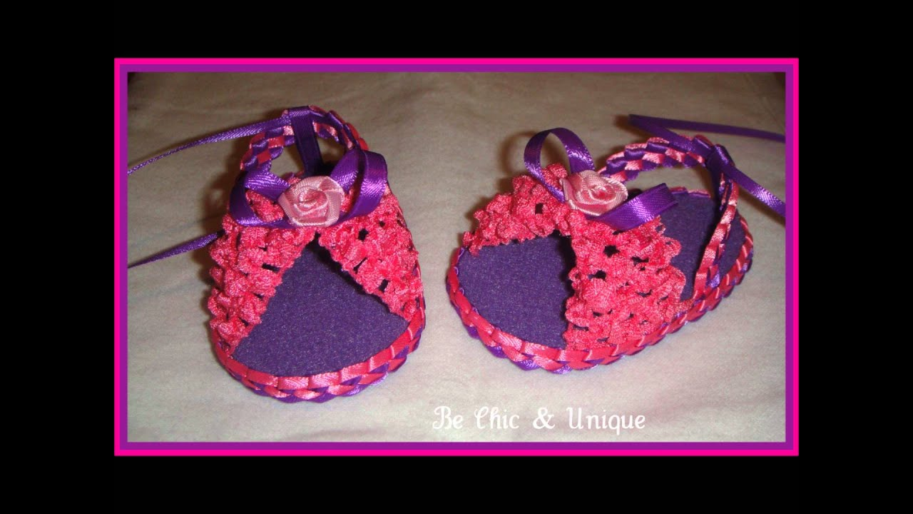 Handmade baby girl sandals sandalias hecho a mano 1st for Hecho a mano