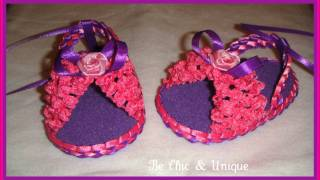 Repeat youtube video Handmade Baby Girl Sandals (Sandalias hecho a Mano)  1st group