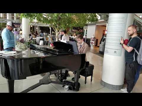 Josh King Playing Harmonica and Piano at the same time