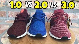adidas Ultra BOOST comparison 1.0 vs 2.0 vs 3.0