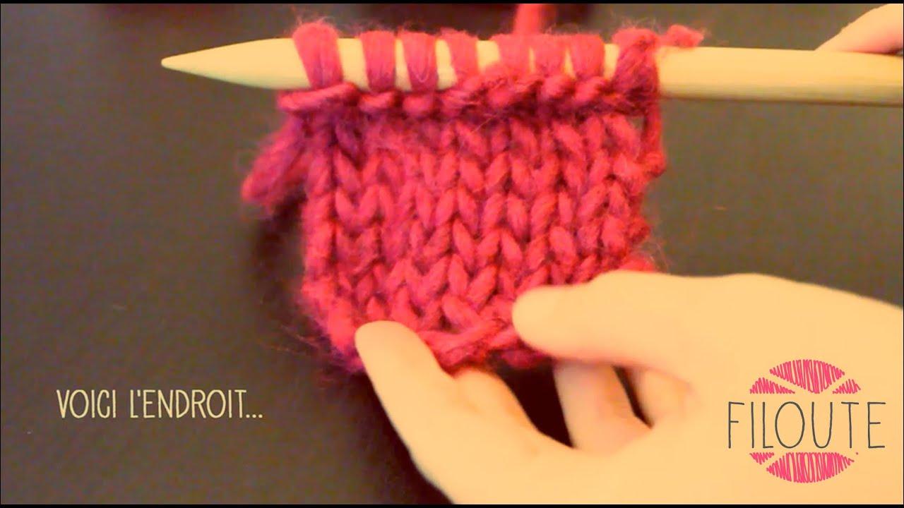 Tricot Tricoter à Lenvers Le Point Jersey Youtube