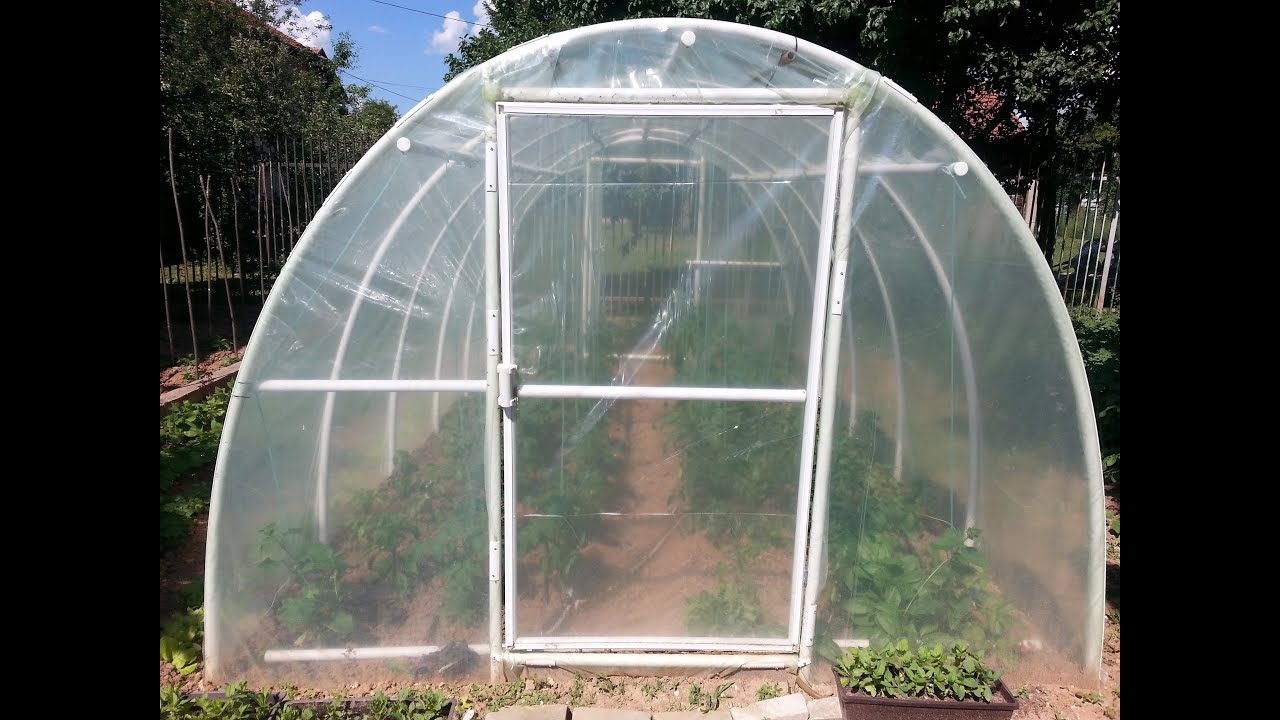 easy way to build pvc greenhouse diy youtube