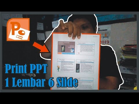 【Tutorial】 Cara Mengeprint PPT 1 Lembar Kertas 6 Slide • Simple News Video
