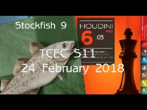 Houdini 6 vs Stockfish 9  The Wildest & Most Complex Chess Engine Game So  Far
