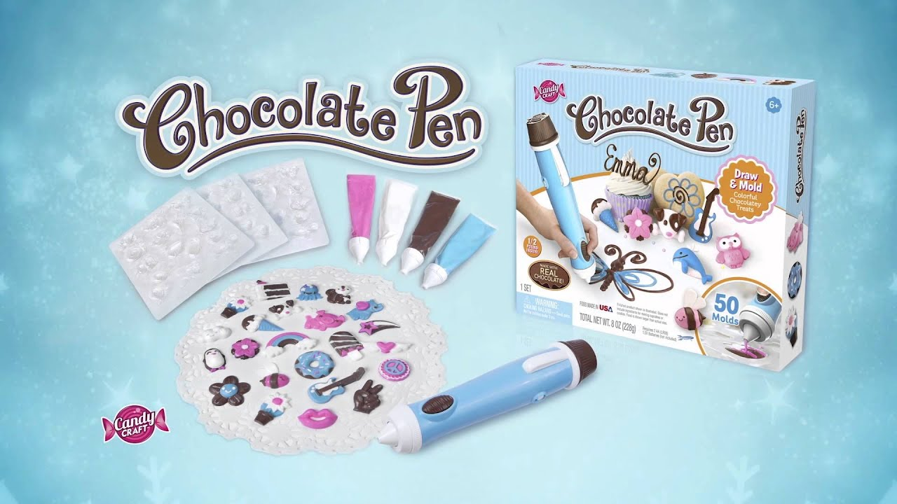 Candy Crafting with the Chocolate Pen: Drawing & Decorating - YouTube