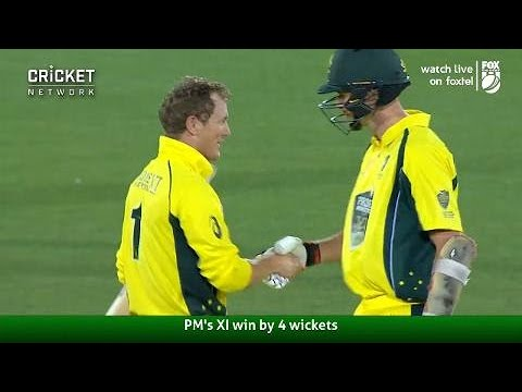 Highlights: Prime Minister's XI v South Africa