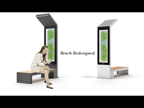 Smart Solar Bench By Engoplanet Youtube