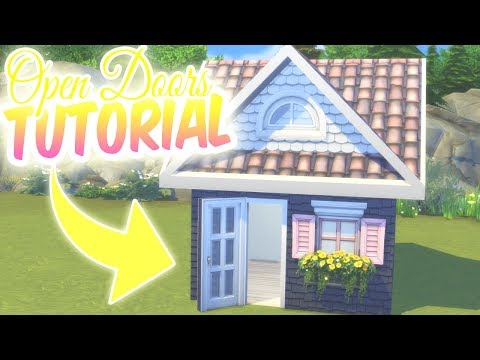 HOW TO BUILD: OPEN DOORS TUTORIAL | The Sims 4: Tips And Tricks (No CC)