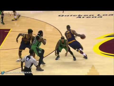 LeBron James Pick & Roll Attacking