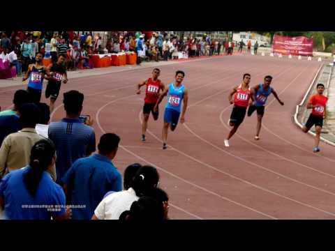 MENS  100m RUN FINAL.21 st FEDERATION CUP NATIONAL SENIOR ATHLETICS CHAMPIONSHIPS-2017 .