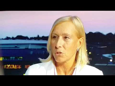 Martina Navratilova shaming the Wimbledon fans