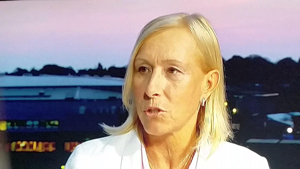 Martina Navratilova shaming the Wimbledon fans