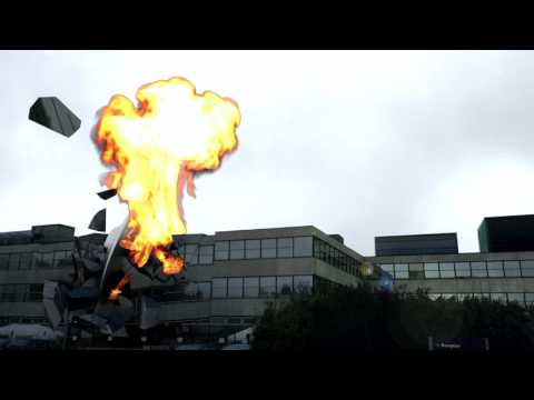 Spaceship crashes into school