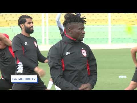 1r Séance d'entrainnement de Club Africain de Tunis à Kigali