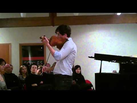 Charlie Siem performs Paganini's Paisiellos's La Molinara, op 38 for solo violin at Foyles on 1/3/11