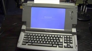 Vintage Word Processor Review: Sharp Font Writer FW-700 (1995?)