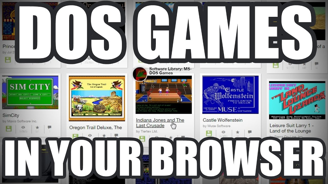 LGR - Archive org DOS Game Library