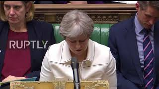 UK: Theresa May defends Syria strikes in parliament