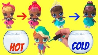 Boss Baby Helps Paint Color Change LOL Surprise Baby Dolls - Color Changing DIY Nail Polish